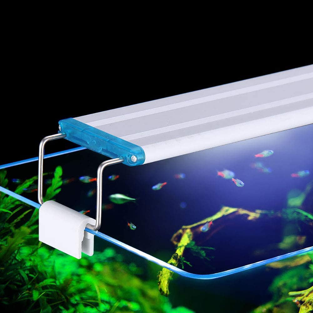 Oyria 7W LED Aquarium Lighting Extendable Waterproof Aquarium Light,Fish Tank Full Spectrum Aquarium Lights Plant Lighting Suitable for for Aquatic,28CM,Blue and White Light