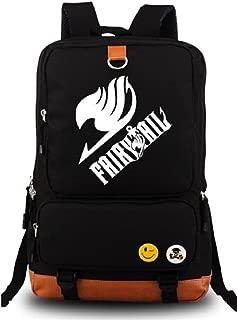 Siawasey® Fairy Tail Anime Natsu Dragneel Cartoon Cosplay Backpack School Bag