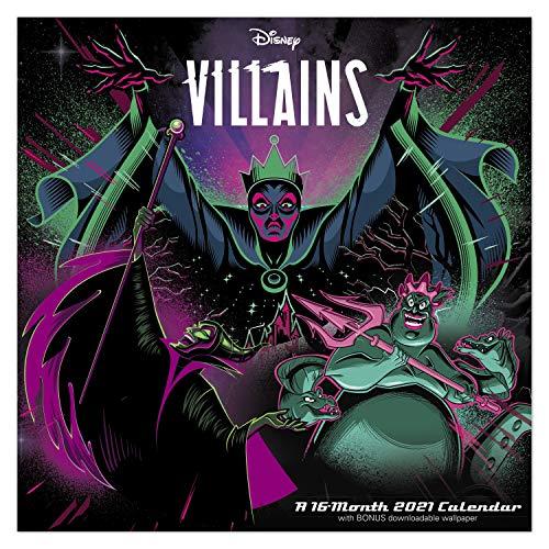Day Dream Calendars Disney Villains Wandkalender 2021, 30,5 x 30,5 cm, monatlich...
