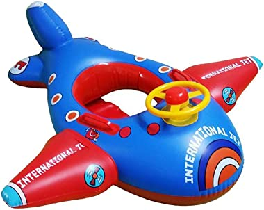 Baby Float, Botitu Aerated Inflatable Pool Float for Kids with Lovely Airplane Design Infant Float, Perfect for Swimming Lear