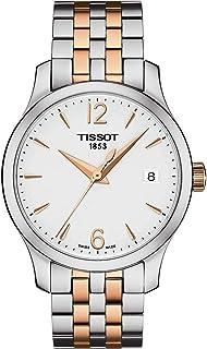 """ساعة تيسو للنساء T0632102203701 """"التقليدي"""" بلونين من الفولاذ المقاوم للصدأ"""