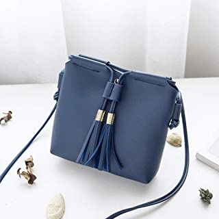 RONSHIN Woman Fashion Double Fringed Pendant Mini Casual Shoulder Pouch Crossbody Bag