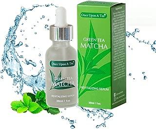 Green Tea Matcha Revitalizing Serum, 92% Organic, Antioxidant Facial Treatment, Smoothes Fine Lines & Wrinkles,Hydrates & Plumps Skin, Removes Dark Spots Face Pigmentation, Best Anti-Aging Moisturizer