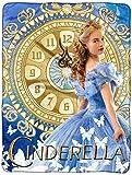 Disney Princess Cinderella Blanket Super Plush Throw Blue