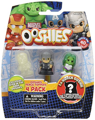 "Ooshies Set 1 ""Marvel Series 1"" Action Figure (4 Pack)"