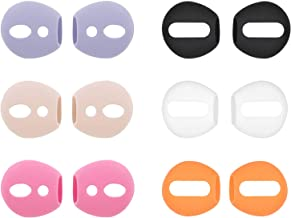 (Fit in Case) 6 Pairs Replacement Super Thin Slim Rubber Silicone Earbuds Ear Tips and Covers Skin for AirPods 2 AirPods 1...