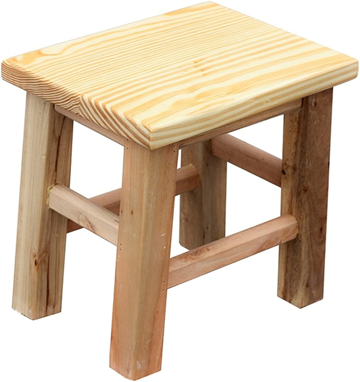 PENGFEI Solid Wood Stool Portable Doorway Wear shoes Stools Bench Bathroom Kitchen Ascend Thicken Footstool Furniture (Size   26x20x25.5CM)