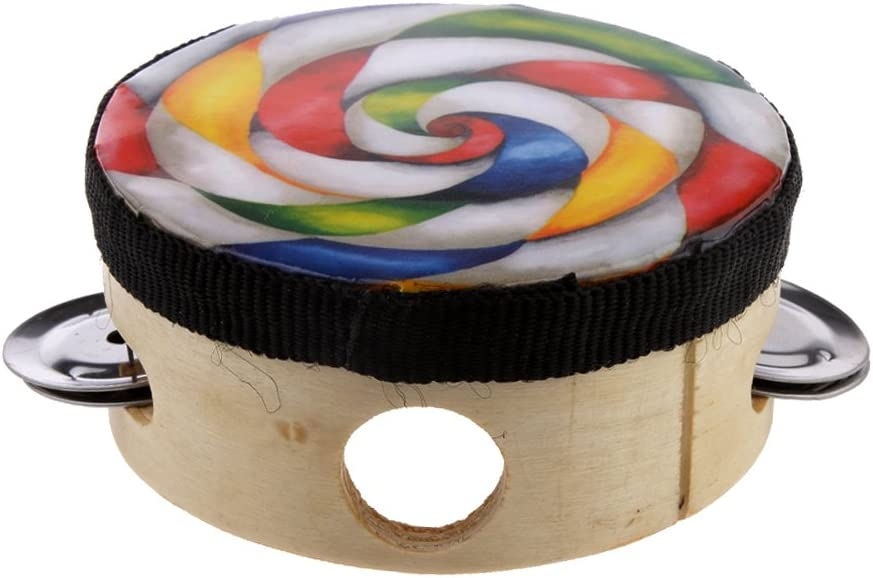 LoveinDIY Surprise price Hand Drum Percussion Great interest Wood Tambourine Party Instrument