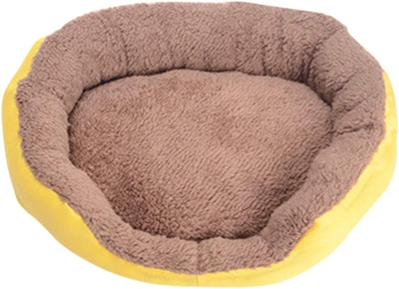 MON5F HOME Pet Sleeping Bed Mats Portable Dog Seat Sofa Ultra Soft Pet Basket Yellow L6850cm for Cat Dog
