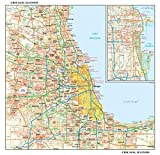 Chicago, Illinois Wall Map, Small - 15' x 14.5' Matte Plastic