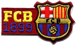 Iron on patches - FC BARCELONA 'FCB 1899' - dark red - 8x4.6cm - by catch-the-patch Application Embroided patch badges