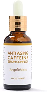 Anti Aging Caffeine Eye Serum Complex for Eye and Face - with Green Tea Catechin, Vitamin C, Niacinamide, Hyaluronic Acid,...