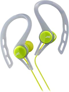 JVC HAECX20G Sports Clip Inner Ear Headphones, Green
