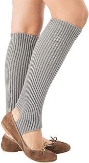 VJGOAL, Mujer de moda casual Calentadores Cómodo Transpirable Deportes de punto Calcetines largos de yoga Cubierta(Un tamaño,gris)