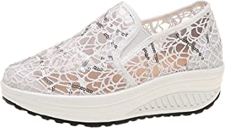 lcybem Plateforme Baskets Femme Respirant Creux Mesh Chaussures Casual Mode Chaussures de Sport Fitness Sneakers Été
