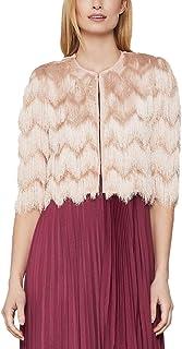 BCBG Max Azria Womens Jaxon Crochet Fringe Jacket