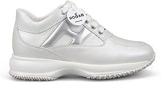 HOGAN Luxury Fashion Womens HXW00N0S360LJZ048K Silver Sneakers | Season Permanent
