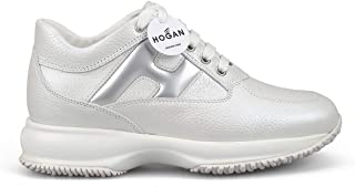 HOGAN Luxury Fashion Womens HXW00N0S360LJZ048K Silver Sneakers | Season Permanent