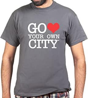 Go Heart Love Your Own City New York T-shirt Charcoal Grey 3XL