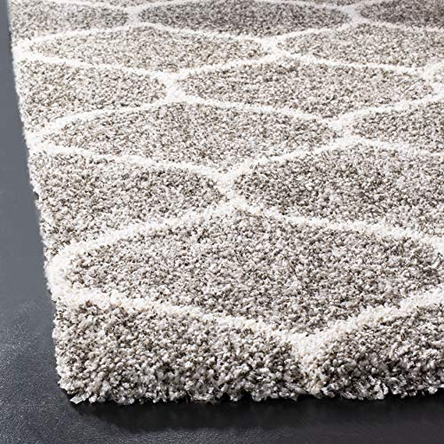 Safavieh Hudson Shag Collection SGH280B Moroccan Ogee Trellis 2-inch Thick Accent Rug, 2'3