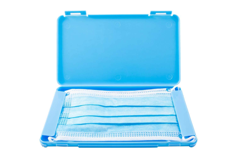 TBOC Caja para Guardar Mascarillas - Estuche Rectangular [Azul] para Almacenar Máscaras Organizador Portátil Plástico Duro para Mascarillas Desechables Ligero y Reutilizable Protege Suciedad y Polvo: Amazon.es: Bricolaje y herramientas