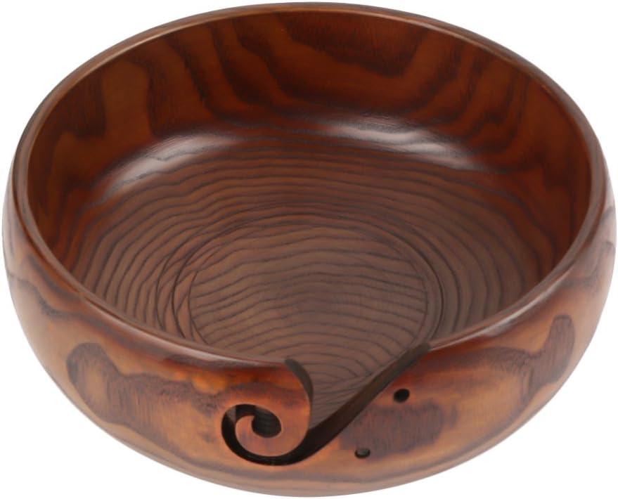 Wooden Ranking TOP16 Luxury goods Yarn Bowl Handmade Knitting Natural Craft Wood