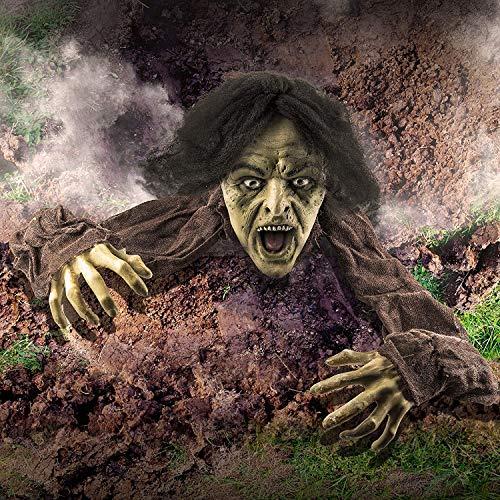 Prextex.com Decorazione Halloween Zombie Che Esce dal Terreno Decorazione da Esterno Halloween