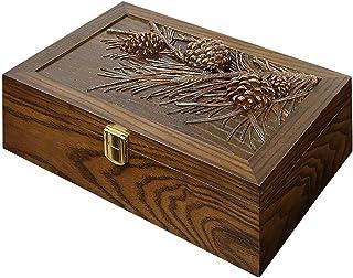 صندوق ساعة ساعة كلاسيكي صندوق عرض سوار صندوق تخزين صندوق مجوهرات صندوق منظم صندوق مجوهرات (اللون: بني، المقاس: 27.8 * 19 *...