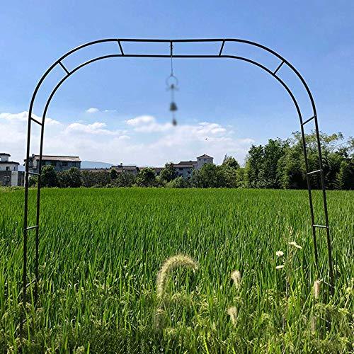 Garden Arch Arcos para Jardín Estable Y Elegante Arco De Metal para Jardin Planchar Soporte para Plantas Trepadoras Altura 240cm Colores: Blanco