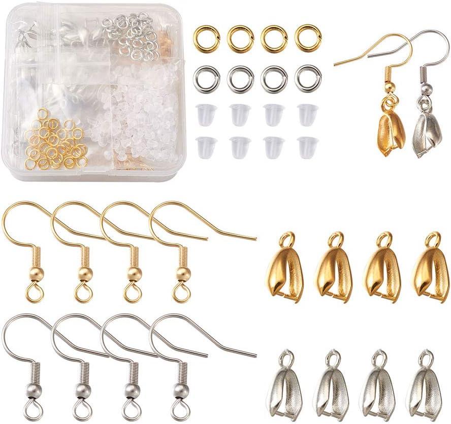 Beadthoven 440pcs Stainless Steel Pendant unisex Clasp Hooks Ea Earring Arlington Mall