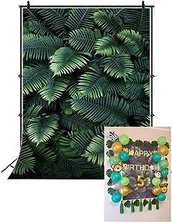 Cassisy 2x3m Vinilo Tropical Telon de Fondo Moda Verde de la Selva Vista De Hojas De Palma Tono exotico Fondos para Fotogr...