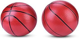 Baloncesto inflable para niños, 2 piezas Mini reemplazo de pelota de juguete de baloncesto para niños, bebés, niños, adultos, patio de juegos, piscina al aire libre, juegos de mesa, suministros para f