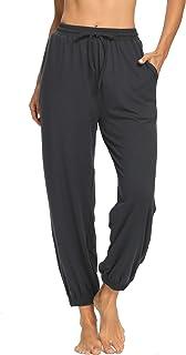 Yeeyotoz Womens Yoga Sweatpants Workout Joggers Pants Drawstring Loose Comfy Wide Leg Lounge Pajama Pants with Pockets