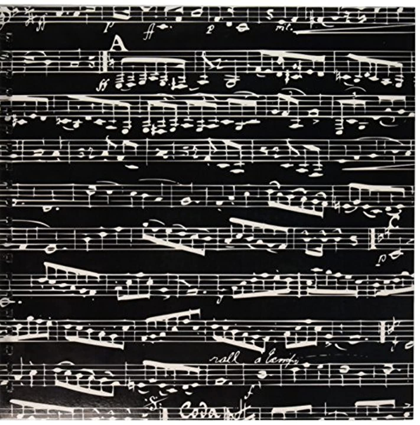 3dRose db_112826_2 Black and White Musical Notes-Stylish Sheet Music-Piano Notation-Contemporary Musician Gifts-Memory Book, 12 by 12-Inch