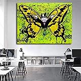 Geiqianjiumai Schmetterling Graffiti Poster und leinwand dekorative malerei leinwand Bild wandkunst Schlafzimmer Dekoration rahmenlose malerei 60x75 cm