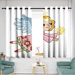 Thermal Insulated Blackout Curtains Hipster Patterned W 55