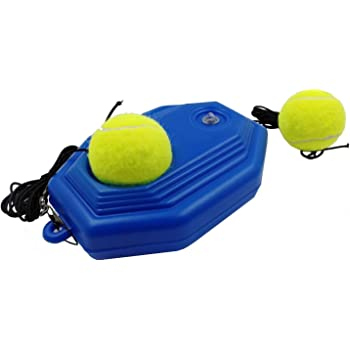 Emwel Tennis Trainer Rebound Ball Tennis Trainer Equipment Trainer Base Self Study Practice Training Tool Training For Kids Player Beginner Amazon Co Uk Sports Outdoors