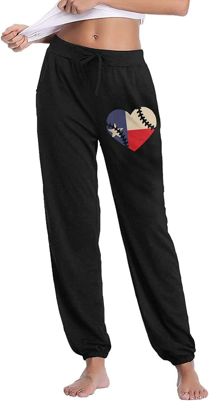 HRiu66@ Jogger Pants for Women Leisure State Texas unisex Basebal Genuine Flag