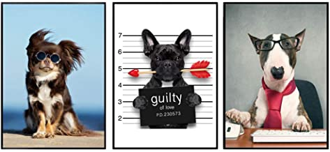 GHAOSAN Cartoon Funny Dog Guilty Fashion Arrow Wall Art Canvas Painting Posters And Prints Wall Pictures Baby Kids Room