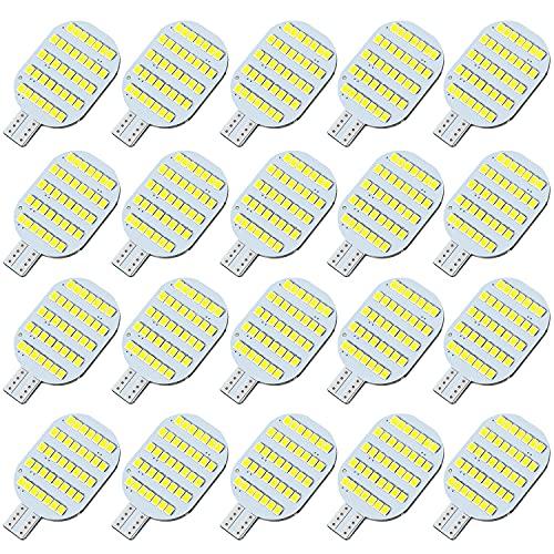 AOICANKI T10 921 922 912 Interior LED Light Bulbs for 12V RV Ceiling Dome Light RV Indoor Lights Camper Trailer Motorhome Marine Boat Dome Interior Light,Super Bright White, Pack of 20