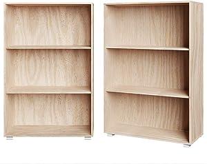 Étagère Bibliothèque chêne Meuble de Rangement »Vela« 3 Compartiments Stockage