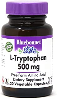 BlueBonnet L-Tryptophan 500 mg Vitamin Capsules, 30 Count