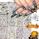1500+ Patterns Halloween Nail Art Sticker...