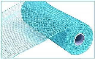 10 inch x 30 feet Deco Poly Mesh Ribbon - Value Mesh (Turquoise)