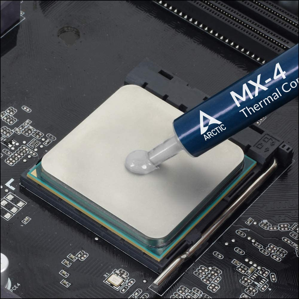 ARCTIC MX-4 (incl. Spatula, 4 Grams) - Thermal Compound Paste, Carbon Based High Performance, Heatsink Paste, Thermal Compound CPU for All Coolers, Thermal Interface Material