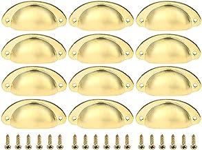 12 stks Deur Lade Kast Iron Shell Cup Halfcirkel Handvat, BETOY Keuken Kast Deur Kast Cup Lade Meubels Antieke Shell Pull ...