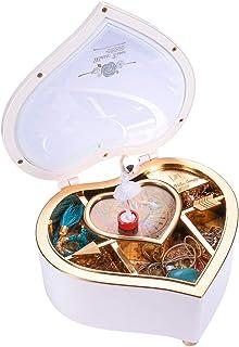 Heart Musical Jewelry Box, Musical Jewelry Storage Box with Dancing Girl,Arrow Design