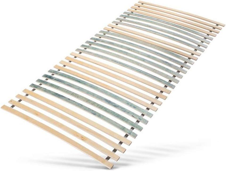 Contreplaqu/é de Bouleau certifi/é FSC DILUMA Sommier /à Lattes en Bois sans Cadre Taille:140 x 200 cm BIS 200 kg 28 Lattes Stables et Flexibles