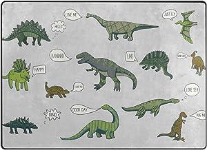 """SKYDA Alfombra de área Tipo Dinosaurio, Alfombra Grande Alfombra Alfombra Alfombra Alfombra Alfombra Ligera para recámara, Sala de Estar, Comedor 5'3""""×4', poliéster, 5'3""""×4'"""