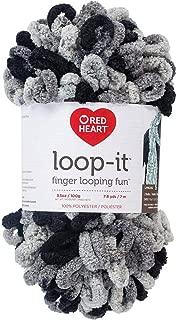 RED HEART E884.9314 Loop-It Yarn, School of Rocks